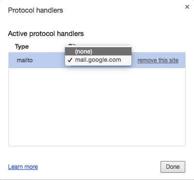 Protocol handlers: set to none or remove