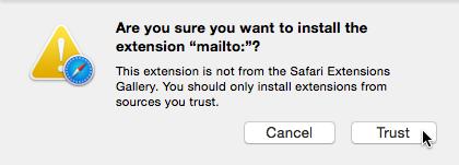 Safari: Trust the mailto extension