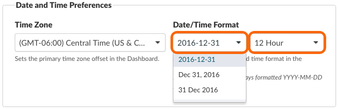 Date/Time Format