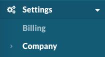 Settings > Company
