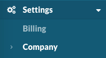 Settings > Company