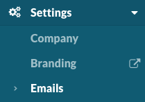 Settings > Emails