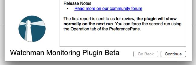 Watchman Monitoring Plugin Beta Installers