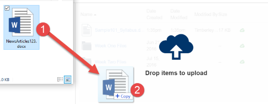 Upload Files via Drag and Drop from files explorer to canvas files