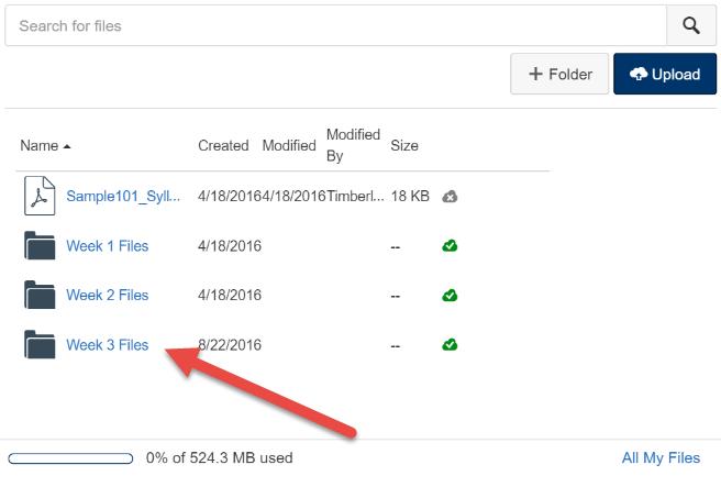 Add files to new folder