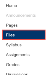 Open Files in course navigation