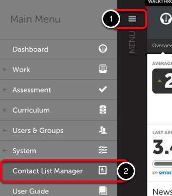 Step 2: Access the Contact List Manager