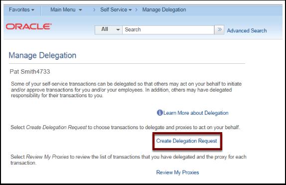 Manage Delegation