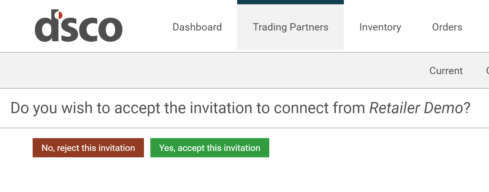 Accepting your invitation dsco support select yes accept this invitation if you wish to do business with the trading partner who invited you to the dsco platform once accepted you will be stopboris Image collections