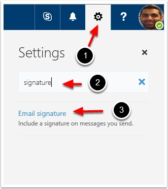 how to add my signature in my email