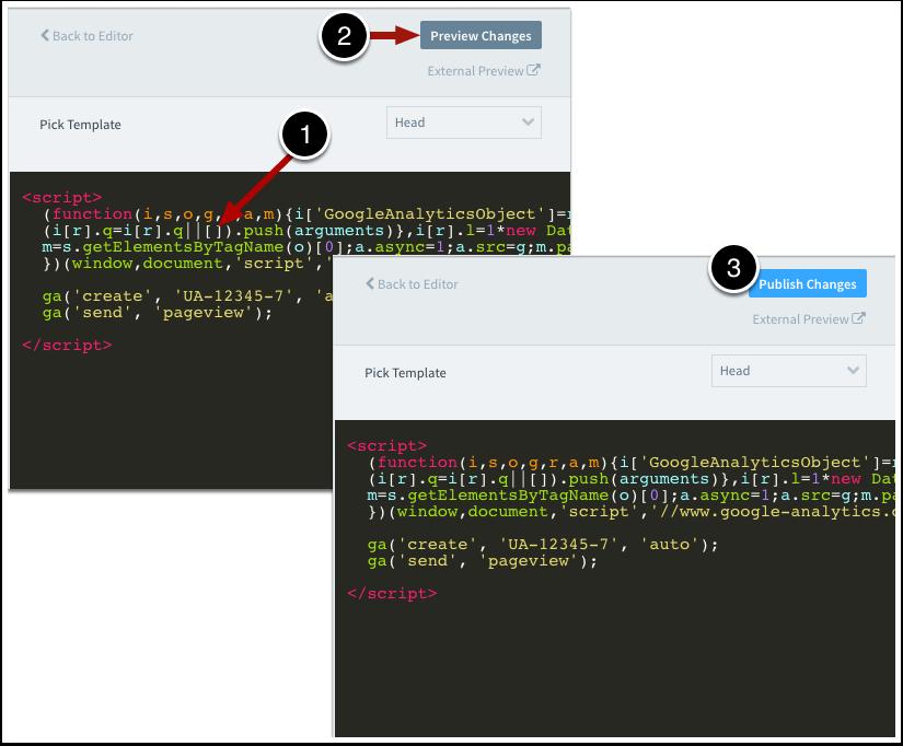 Enter Custom JavaScript