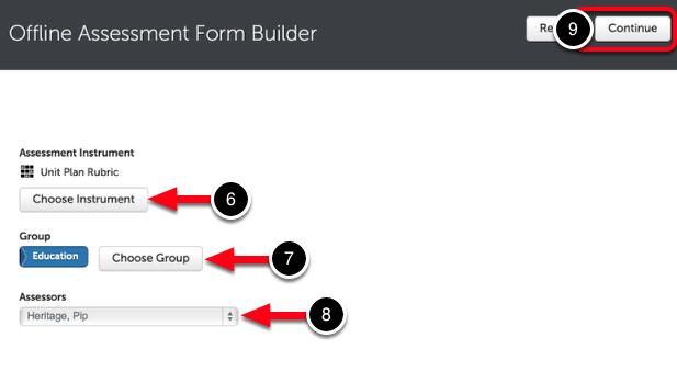 Step 3: Build Offline Assessment Form