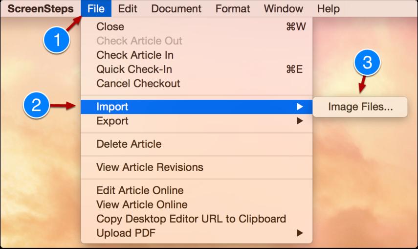 Import your screenshots into ScreenSteps