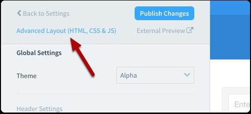 """Select """"Advanced Layout (HTML, CSS & JS)"""
