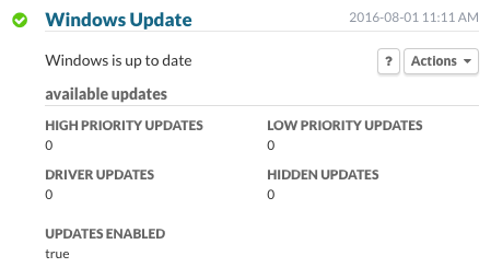 Windows Update: Windows is up to date