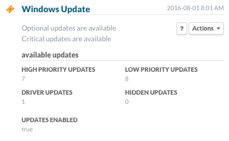 Windows Update: Updates Available