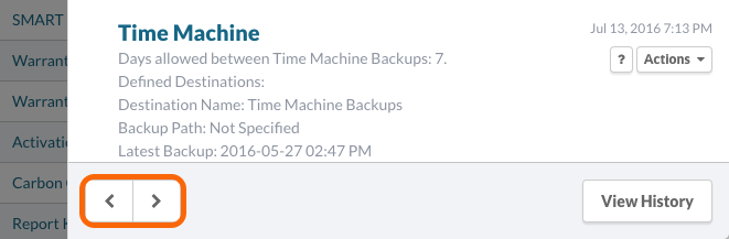 Plugin Results: Time Machine