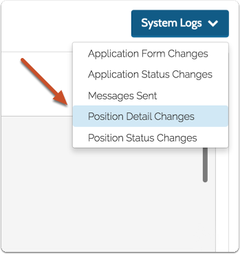 "Navigate to Reports and choose ""Application Status Changes"" from the System Logs menu"