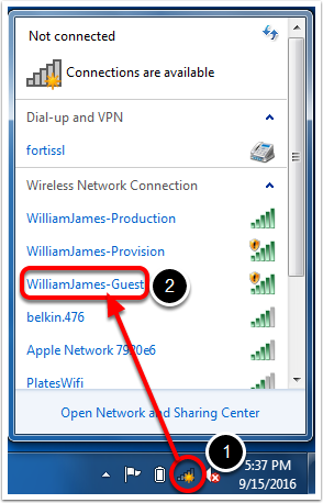 Connect to Guest Wifi – William James College Helpdesk