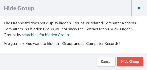 Hide a Group Dialog