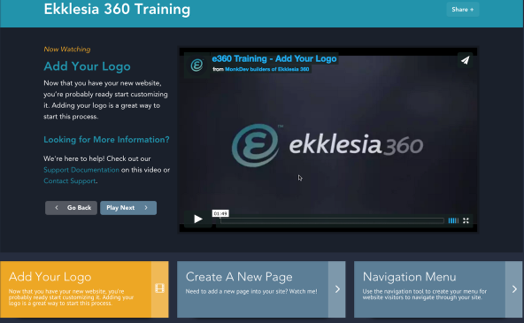Ekklesia 360 Training Videos