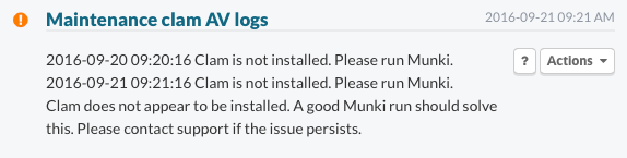 Clam is not installed. Please run Munki.