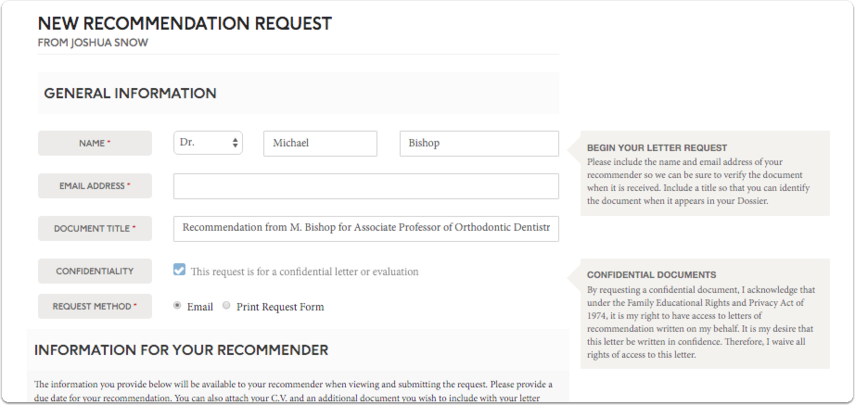Add general information about your request