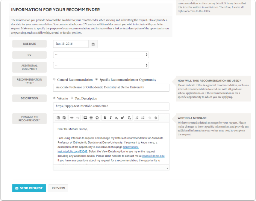 Add information for your recommender