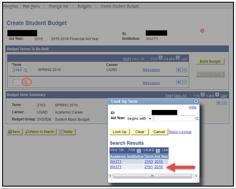 Create Student Budget