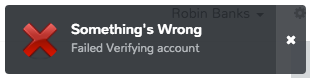 Something's Wrong - Verification Failed