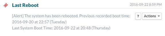 Last Reboot Event