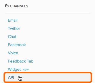 Channels > API
