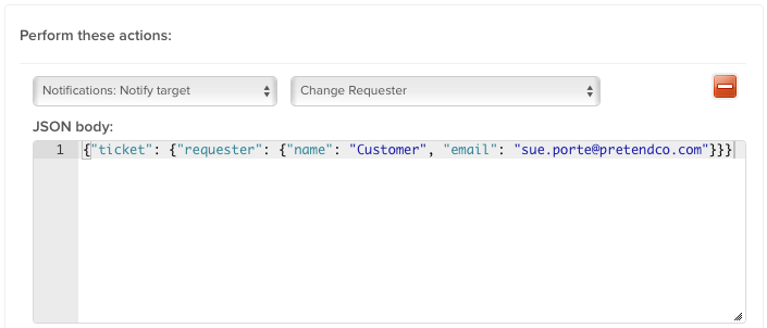 Zendesk - Automatically changing the Requester [deprecated