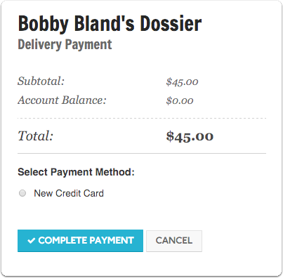 "Complete your order on the ""Delivery Payment"" screen"