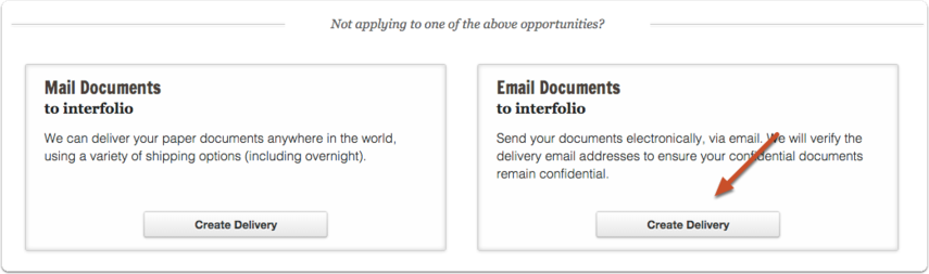 "Scroll down the page and click the ""Create Delivery"" button in the ""Email Documents"" box"