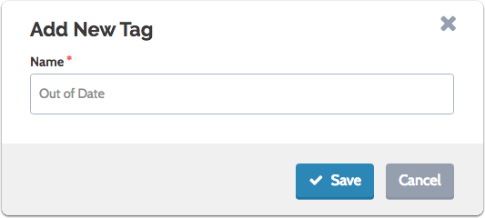 "Enter the new tag and click ""Save"""