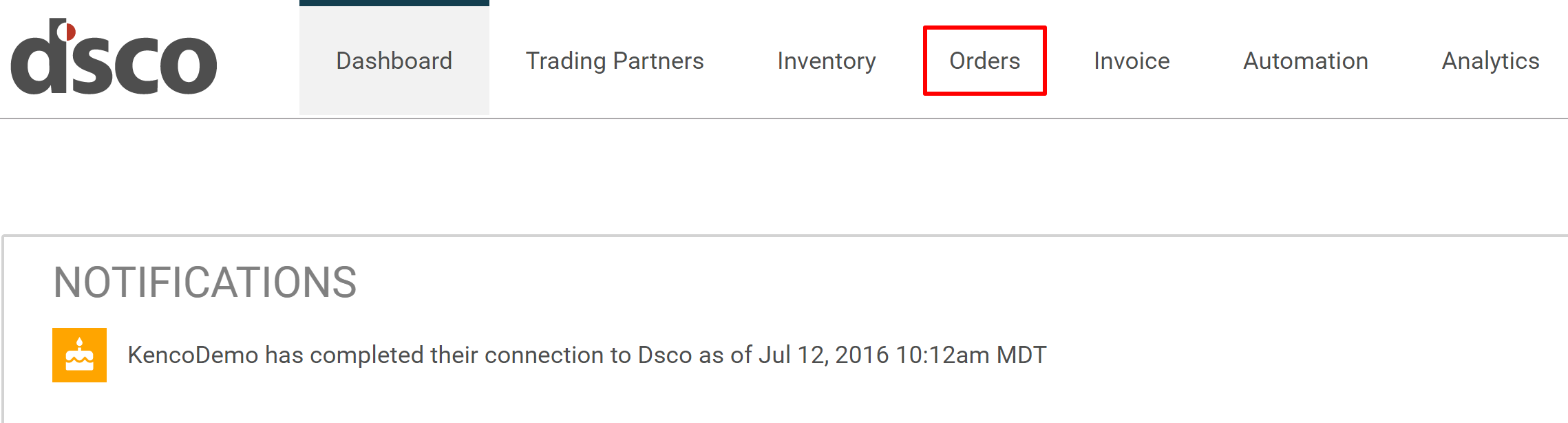 Creating an Order – Dsco Support