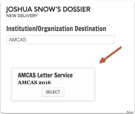 amcas letter writer application vs interfolio Collect, curate, share, and apply direct your career use dossier to store, prepare and send your letters, resumes, and other materials to any career or graduate opportunity.