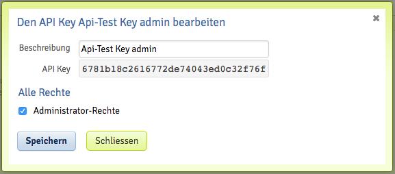 API Keys auslesen und Bearbeiten