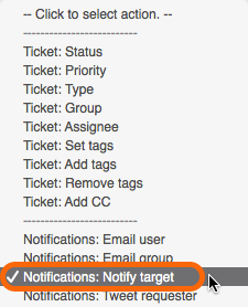 Notifications: Notify target