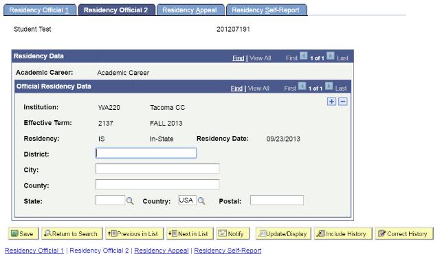 Residency Official 2 tab