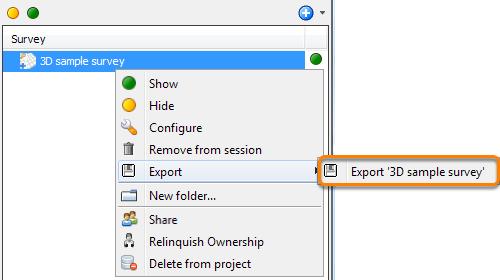 Export a survey