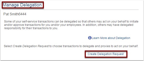 Create Delegation Request