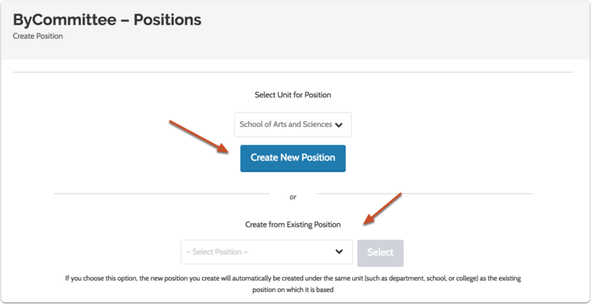 Choose to create the new position from scratch or use settings from an existing position