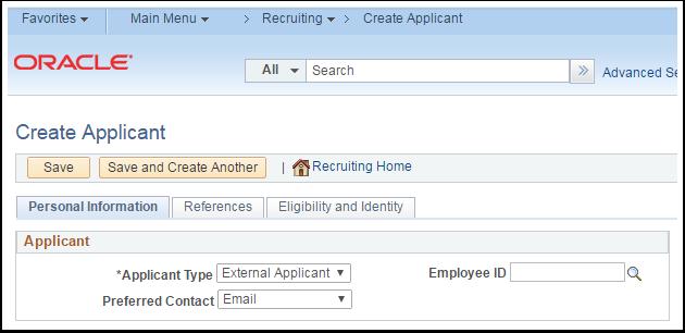 Create Applicant