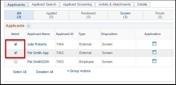 Applicant List