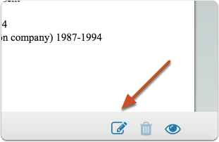 "Click the ""note"" icon to add an annotation on the currently displayed document"