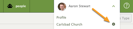 Edit your church settings for PCO Services