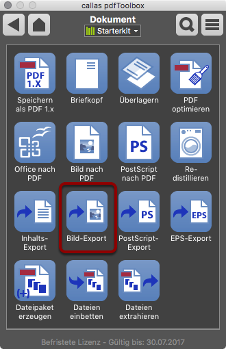 Switchboard Dokument - Bild Export