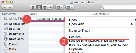 Create ZIP File:  Mac Users